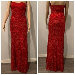 DANCING QUEEN Red/Gold Night Dress Size S